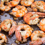 Pan fried shrimp/ prawns